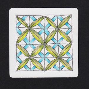 Tangle: Crux by Henrike Bratz Color: Prismacolor pencils